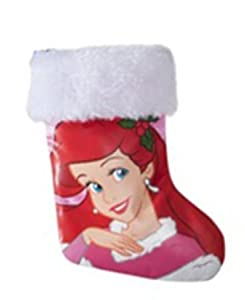 Disney ariel 8 inch satin christmas stocking for Ariel christmas decoration
