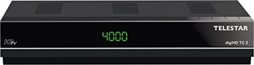 digiHD TC 2 HDTV Kabel Receiver (Display, Conax Kartenleser, HDMI, Audio/Video Cinch, Scart Adapter, USB, Internetportalfunktion, Mediaplayer) schwarz