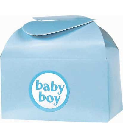 Blue Baby Favor Box Kit 24ct - 1