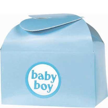 Blue Baby Favor Box Kit 24ct