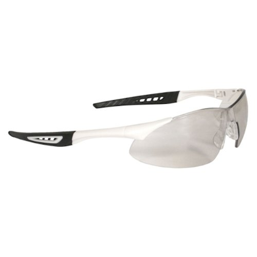 Radians Rk4-60 Rock Lightweight Design White Frame Safety Glasses With Rubber Tipped Temples