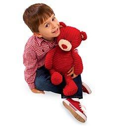 Red Corduroy Hugs and Kisses Bear