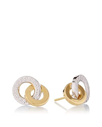 Rhapsody Pendientes Interlocking oro bicolor 18 ct