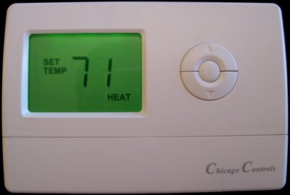 HC7176 Landlord Thermostat Limits Heat to 71 degrees and A/C to 75 degrees completely tamper proof thermostat