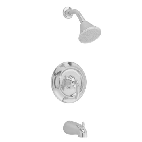 American Standard T038.502.295 Tropic Bath/Shower Trim Kit with Showerhead, Flange and Arm, Slip On Diverter Tub Spout, Satin Nickel