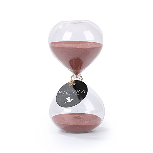 biloba-6-inch-puff-sand-timer-hourglass-60-minutes-cocoa-color-sand-inspired-glass-home-desk-office-
