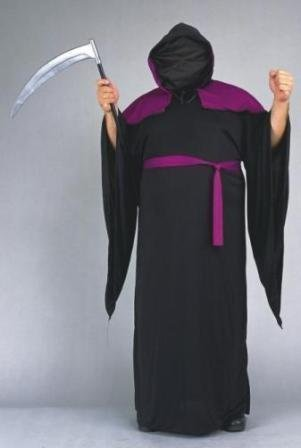 Men Large (42-44) Red with Black Two Tone Halloween Horror Robe - Weapon not incl