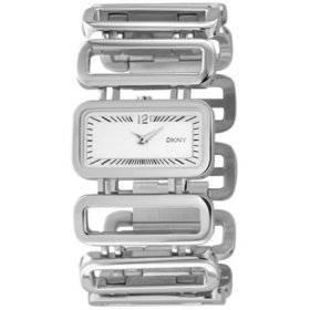 DKNY NY3788 - Reloj analógico de cuarzo para hombre con correa de caucho, color plateado