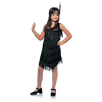 Black Flapper Girl Kids Costume