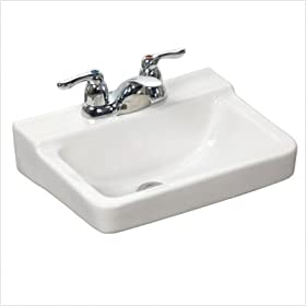 Squire Wall Mounted Bathroom Sink Finish: White