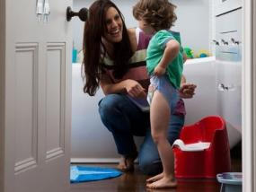 Pull-Ups are more like potty training underwear because your child learns to pull  them up and down