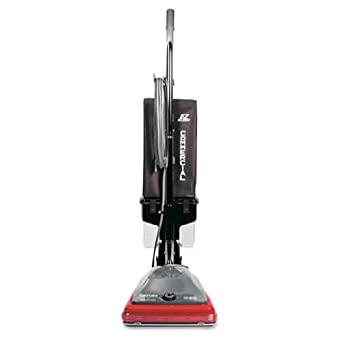 "Sanitaire EUKSC689A Lightweight Uprights Commercial Vacuum, 30' Cord, 5 Amps Power, 21-1/2"" Length x 15-1/2"" Width x 9.9"" Height, Red/Black"