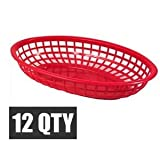 "DOZEN RED FAST FOOD BASKET 9 1/4"" x 5 3/4"""
