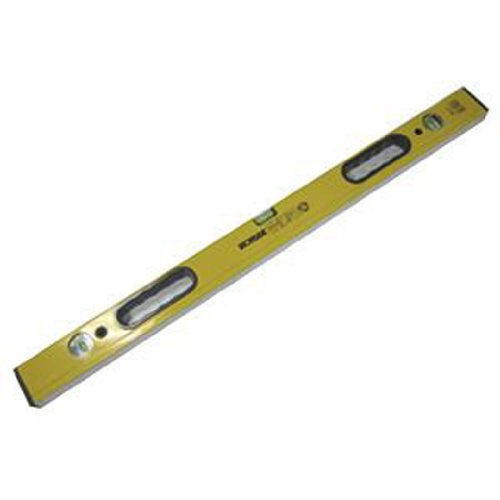 Ironside-152148-Wasserwaage-Alu-3-Libellen-80-cm-mit-2-Handgriffen-gelb