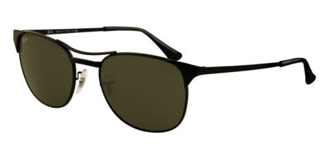 Ray Ban Rb3429 Signet Black Frame/Brown Lens Metal Sunglasses, 55mm