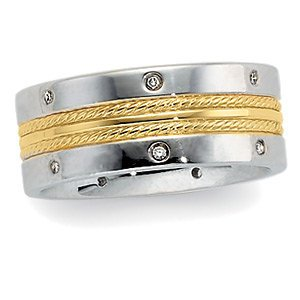 08-CTW-Diamond-Duo-Band-61617-14Kt-WhiteYellow-Size-0700-08-Ct-Tw-Polished-Two-Tone-Diamond-Duo-Wedding-B