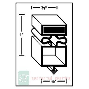 True Refrigeration Door Gasket front-631175