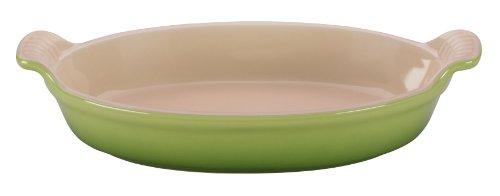 Le Creuset Heritage Stoneware Oval Au Gratin Dish, 1-Quart, Palm
