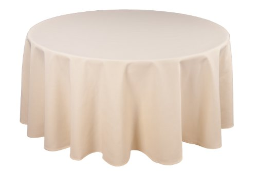 Riegel Permalux Cottonblend 120-Inch Round Tablecloth, Ivory
