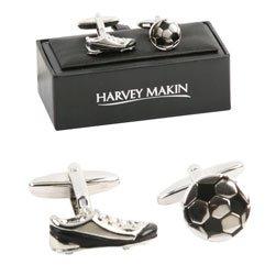 Fussball und Schuhe Manschettenknöpfe