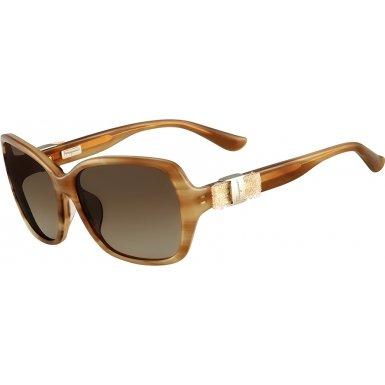 Salvatore Ferragamo SF657SL-260 Ladies Striped Honey SF657SL Sunglasses