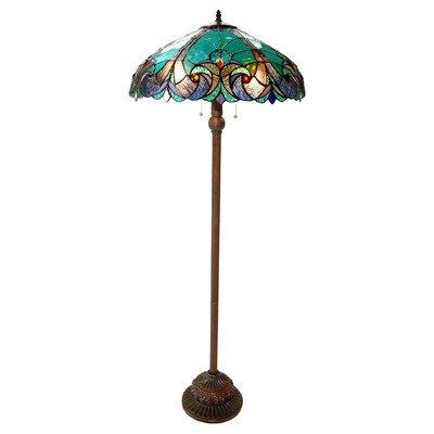 "Chloe Lighting Ch18780Vg18-Fl2 ""Liaison"" Tiffany-Style Victorian 3 Light Double Lit Floor Lamp 18-Inch Shade"