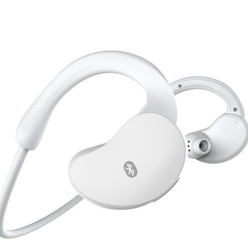 White Sweat Proof In-Ear Sport Bluetooth V4.0 Stereo Headset Headphone