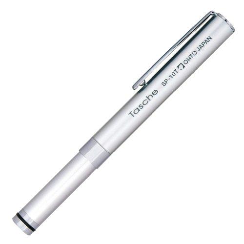 ohto-lapiz-mecanico-con-tapa-tasche-sharp-05-mm-cuerpo-plateado-sp-10t-silver