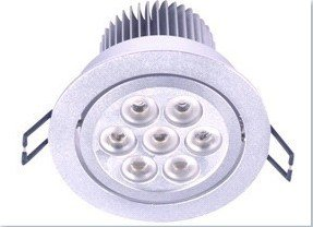 Onite Len Led Ceiling Light / Down Lighting High Power Cree/Semi/Edison Flush Mount 110V 7W Decorative Light With Adapter, Warm White