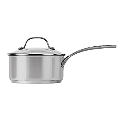 Royal Doulton 40009797 Gordon Ramsay Saucepan with Lid, 2 quart, Silver