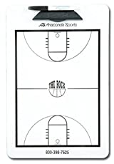 Anaconda Sports® MG-LES-COL The Rock® Basketball Court Diagram Clipboard with New College 3 Point Line (Size: 9in. x 15 1/2in.)