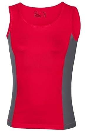 Hanes Ladies Sports Tank Top Vest Red