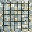 1x1 Gold Green Tumbled Quartzite Mosaic Tiles for Backsplash, Shower Walls, Bathroom Floors, Jacuzzi, Pools