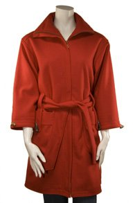 Misses Wide Sleeve Wool Jacket in Red, Size Medium