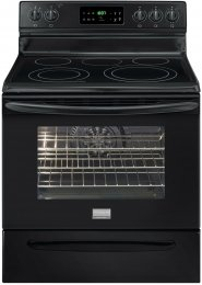 """Frigidaire Fgef3032Mb Gallery Series 30"""" Freestanding Electric Range With 5 Radiant Elements, 5.7 Cu. Ft. Oven Capacity, Quick Bake Convection Oven, Self-Clean, Storage Drawer And Temperature Probe, In Black"""