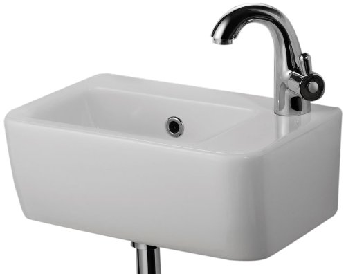 alfi brand ab101 small wall mounted ceramic bathroom sink basin white reaoenroanoenonono. Black Bedroom Furniture Sets. Home Design Ideas