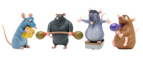Buy Disney Pixar Ratatouille Movie Toy Action Figures Set of 4 one of each: Remy Django Git Emile