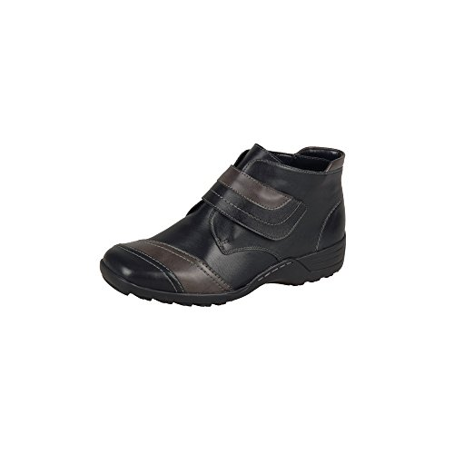 Stivali donna remonte Dorndorf // Boot cristallinoleder/Bogota/Fino, fodera in lana di agnello,, Nero (schwarz/graphit/schwarz), 8.0