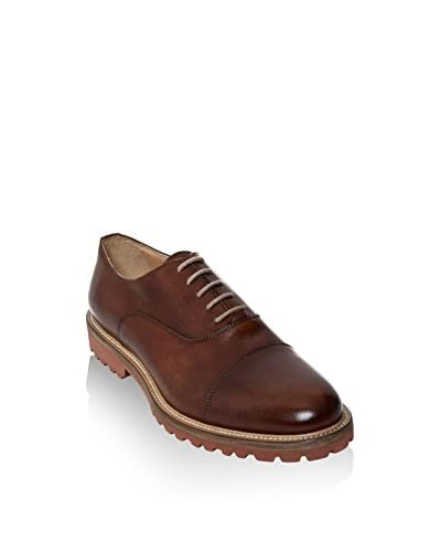 British Passport Oxford Toe Cap [Marrone]