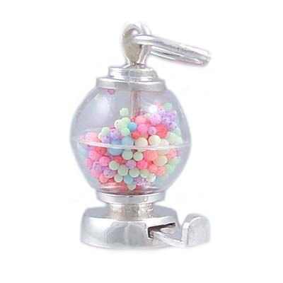 Mechanical Gumball Candy Machine 925 Sterling Silver Traditional Charm