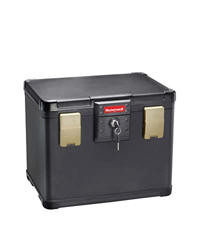 .6 Cu. Ft. Letter Waterproof 30-Minute Fire File Molded Chest, Black