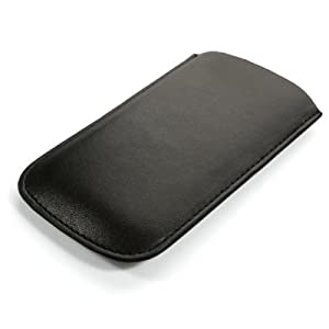 IPHONE 4S QUALITY VERTICAL PU LEATHER POCKET POUCH WITH PULL TAB RELEASE MECHANISM
