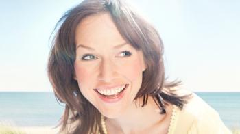 Woman smiling image.
