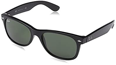 Ray-Ban RB2132 - 811/32 New Wayfarer Non-Polarized Sunglasses,Black Frame/G-15-XLT Lens,52 mm