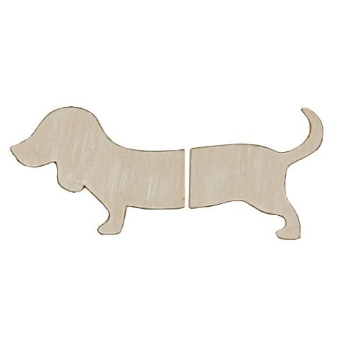 Sadie & Scout 2 Piece Dog Shaped Wall Decor - Tan