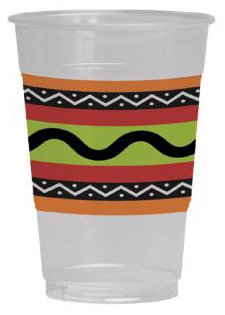 Fiesta Stripes 16oz Plastic Cups