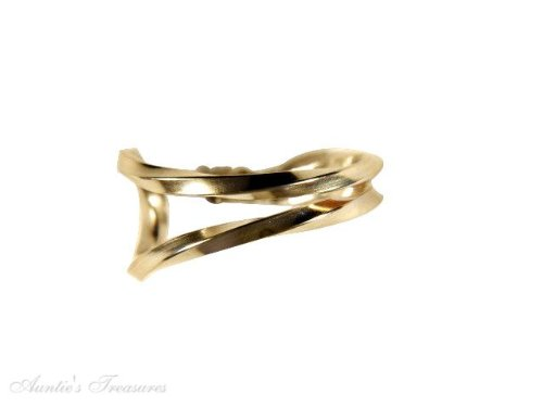 Sterling Silver Unique Gold Filled Nonpiercing Open Twisted Band Ear Cuff