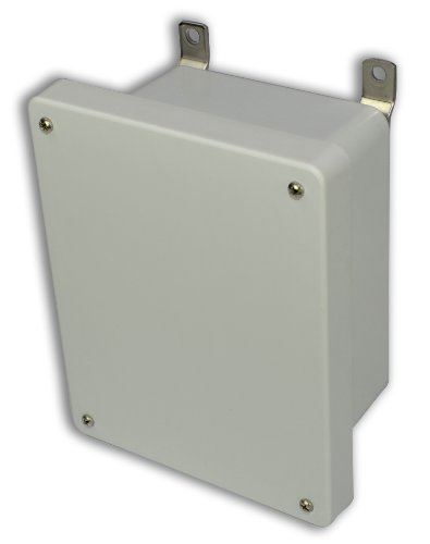 Allied Moulded Am1086 Am Series Fiberglass Jic Size Junction Box, Lift-Off Screw Cover