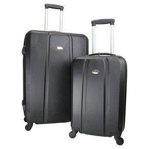 Swiss Case 4 Wheel Abs 2Pc Diamond Suitcase Set by Swiss Case