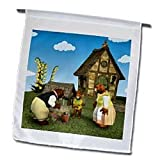 The 3 Bears Family working at home - 12 X 18 Inch Garden Flag